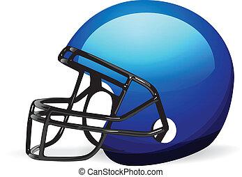 Vector Football Helmet on white