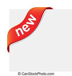 Vector illustration of a red New sign