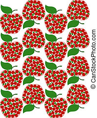 vector illustration of an apple seamless background