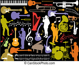Vector music elements.