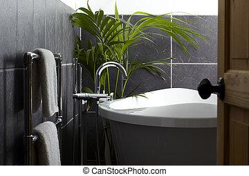 View of contemporary bathroom