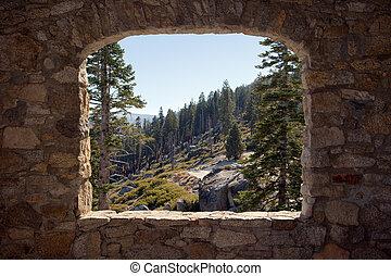 View Through a Stone Window