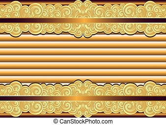 Vintage bronze and gold frame