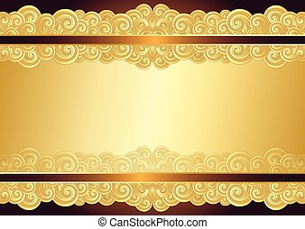 Vintage gold frame with place for the text,