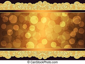 Vintage gold frame with place for the text, vector eps 10