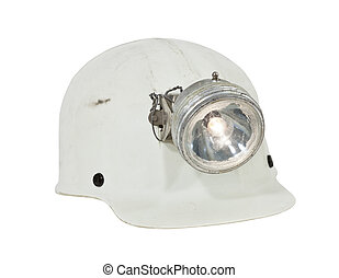 Vintage Mining and Caving Hard Hat Isolated