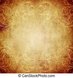Vintage paper background with grunge and decorative details