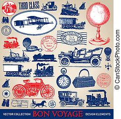Vintage travel set (vector)