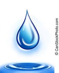 Water drop illustration. Water drop background.. Water-drop