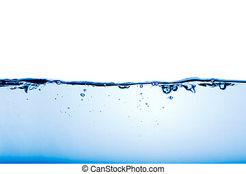 An abstract background of calm water with a few bubbles