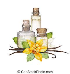 Watercolor vanilla oil