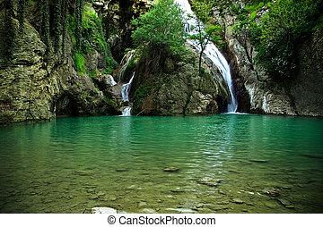 Waterfalls near Hotnitsa village in Bulgaria