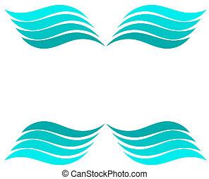 Blue water waves - vector illustration background