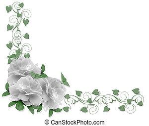 Wedding Invitation Border Roses