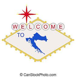 Welcome to Croatia sign