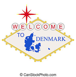 Welcome to Denmark sign