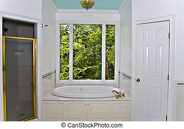 White Bathroom Interior