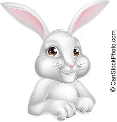 White Easter Bunny Rabbit