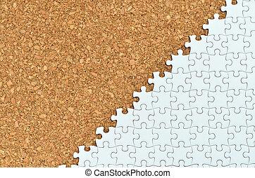 White jigsaw puzzle.