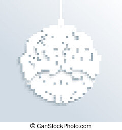 White Merry Christmas bauble ornament