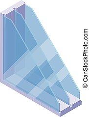 Window profile icon, isometric style