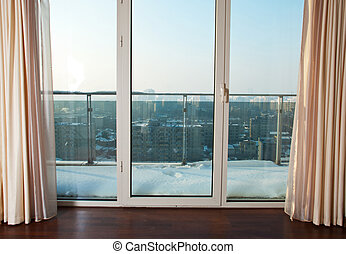 Windows to balcony