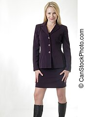 Pretty blond in business suit