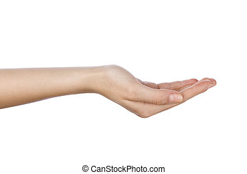 Woman hand with palm up