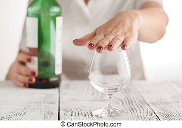 Woman refuses to drink alcohol