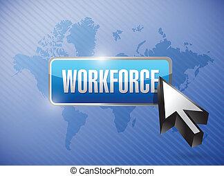 workforce button illustration design