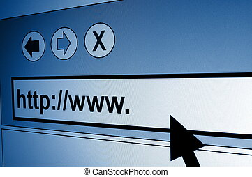 www internet browser showing a communication concept