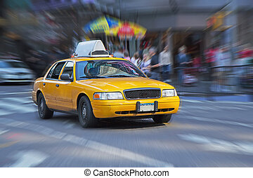Yellow cab in New York.