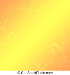Yellow-orange background with a bokeh and stars for design