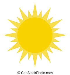 Yellow Sun Shining Cartoon Character