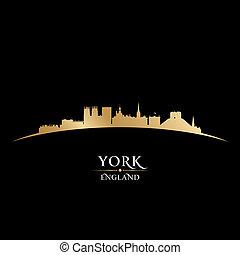York England city skyline silhouette. Vector illustration
