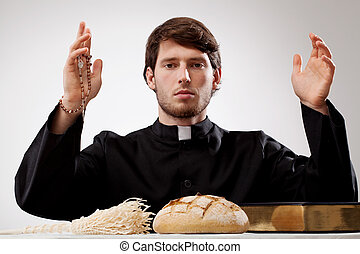 Young priest