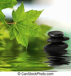 Zen stones on water